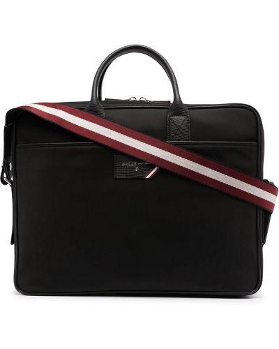 Кожаная сумка - черная Bally