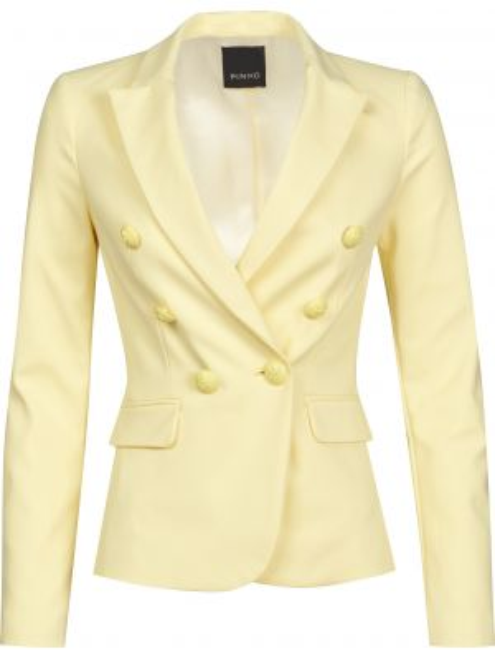 Желтый хлопковый пиджак на пуговицах Pinko
