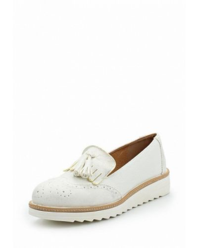 Белые лоферы на каблуке Ideal Shoes®