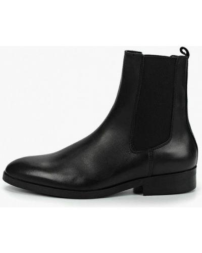 Ботинки челси на каблуке кожаные Mango