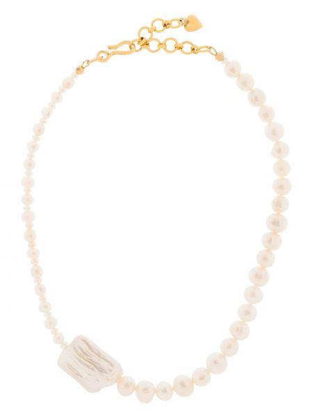 Biały złoty naszyjnik perły Brinker & Eliza