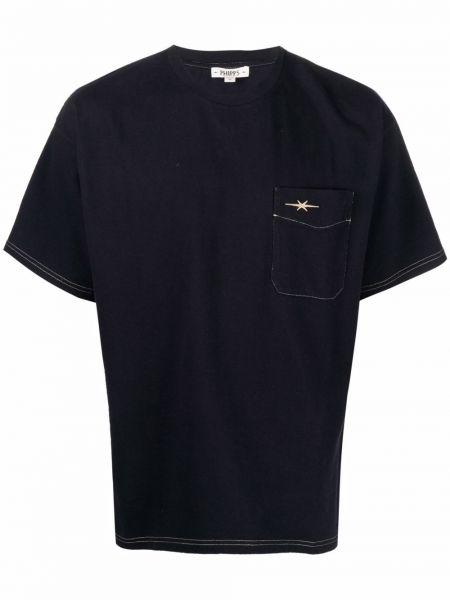 Niebieska t-shirt bawełniana Phipps