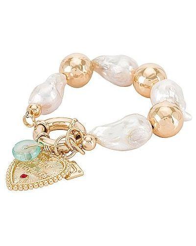 Złota bransoletka z koralikami pozłacana perły Dannijo
