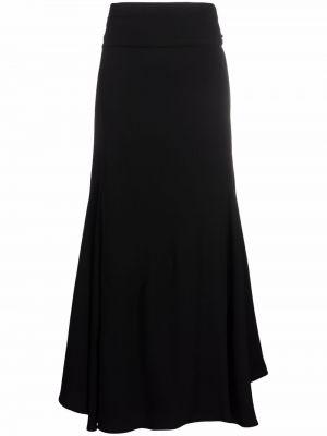 Черная юбка расклешенная Stefano Mortari