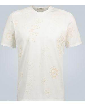 Biały t-shirt bawełniany z haftem Rochas