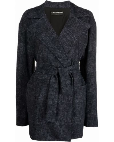 Черное пальто халат Le Petite Robe Di Chiara Boni