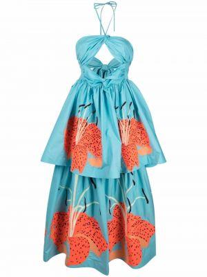 Платье макси длинное - синее Yuliya Magdych