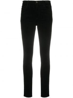 Bawełna klasyczny czarny klasyczne spodnie z paskiem J-brand