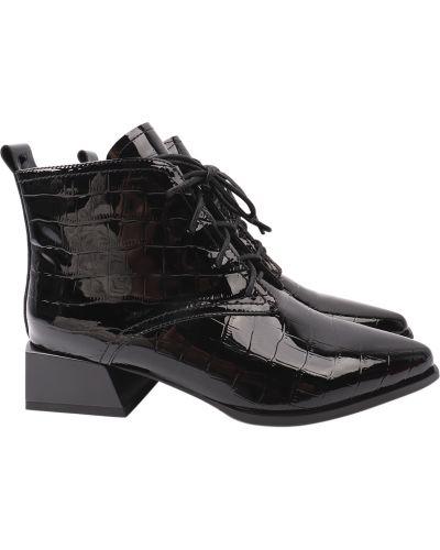 Кожаные ботильоны - черные Angelo Vani
