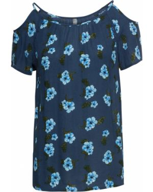 Блузка с коротким рукавом с рукавом реглан с цветочным принтом Bonprix