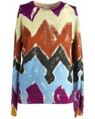 Brązowy sweter Stella Jean