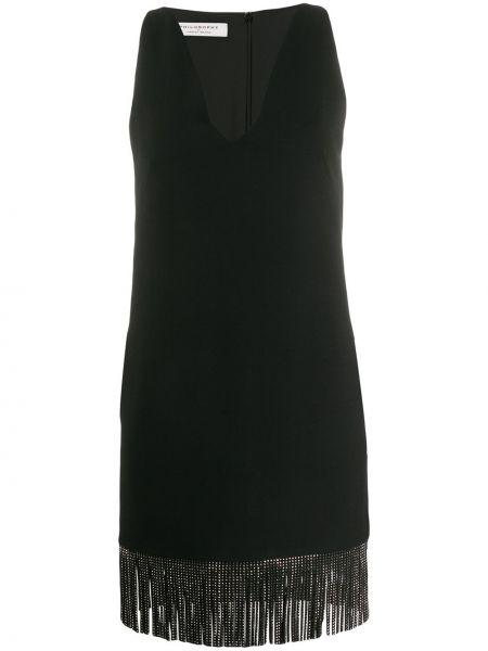 Приталенное платье с бахромой на молнии без рукавов Philosophy Di Lorenzo Serafini