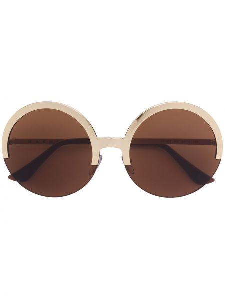 Солнцезащитные очки круглые металлические Marni Eyewear