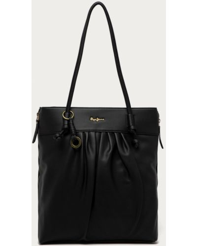 Czarna torebka duża Pepe Jeans