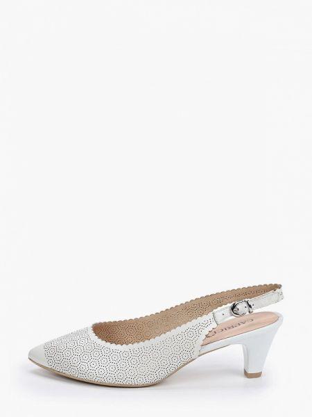 Кожаные туфли с открытой пяткой белый Caprice