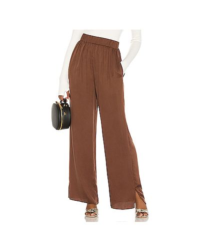 Коричневые пижамные брюки с карманами с разрезом L'academie