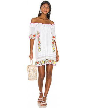 Платье мини с декольте эластичное Pilyq