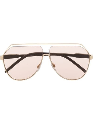 Różowe okulary z printem Dolce & Gabbana Eyewear