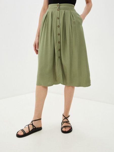 Юбка широкая зеленый Zarina
