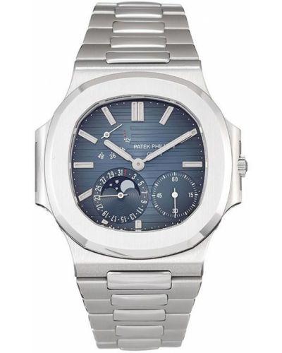 Пуховые серебряные часы c сапфиром Patek Philippe