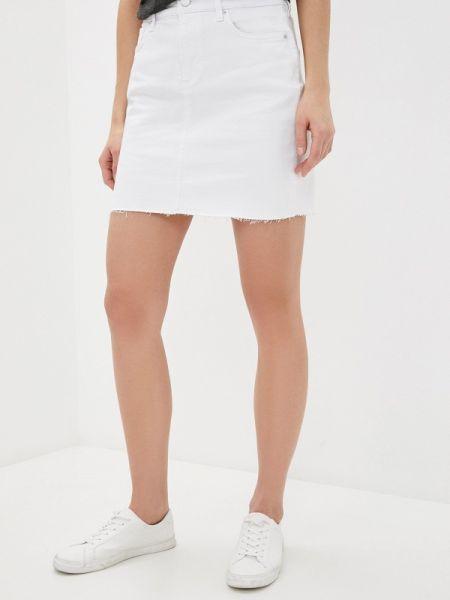 Джинсовая юбка белая весенняя Q/s Designed By