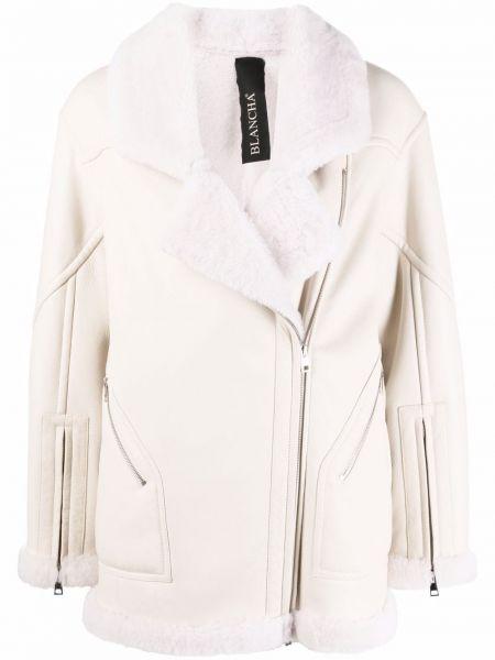Белая куртка байкерская Blancha