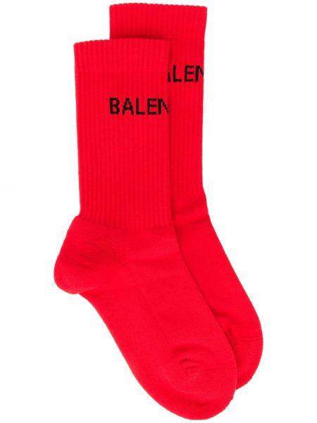 Хлопковые красные носки эластичные Balenciaga