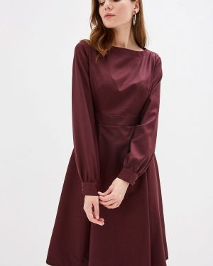 Платье бордовый прямое Buono