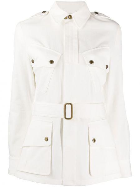 С рукавами белая джинсовая куртка с поясом Ralph Lauren Collection