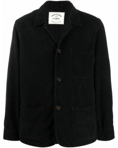 Классическая фланелевая черная длинная куртка Portuguese Flannel