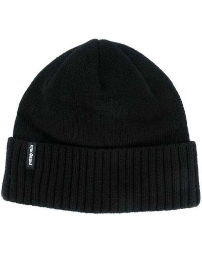 Шерстяная шапка бини - черная Patagonia