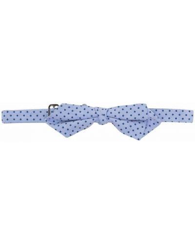 Синий галстук-бабочка в горошек с бабочкой Fay Kids