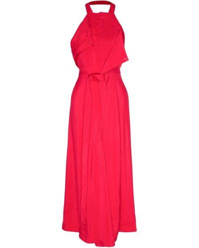 Платье миди с американской проймой из вискозы Jacquemus