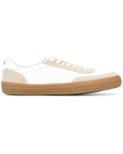 Кожаные кроссовки с логотипом белый Rov