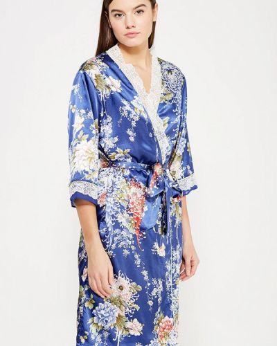 Синий домашний халат Mia-mia