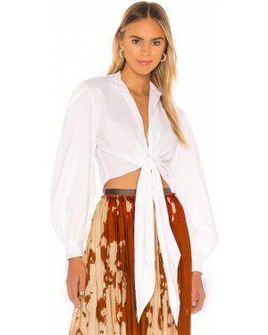 Biała bluzka bawełniana zapinane na guziki Petersyn