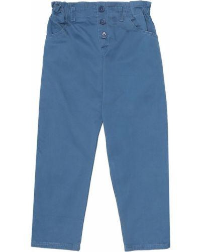 Ватные синие пуховые брюки Caramel