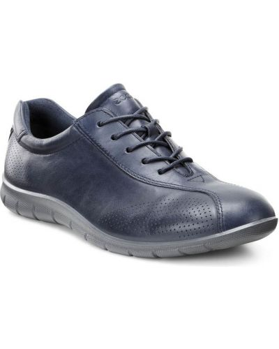 Кожаные кроссовки текстильные повседневные Ecco