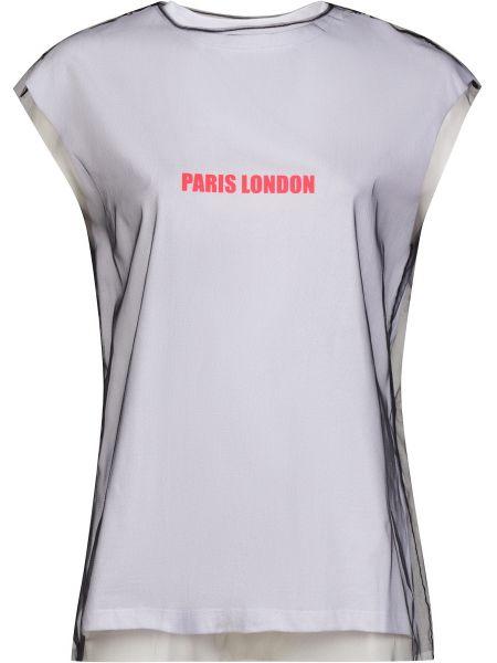 Футбольная белая футболка из фатина Frankie Morello