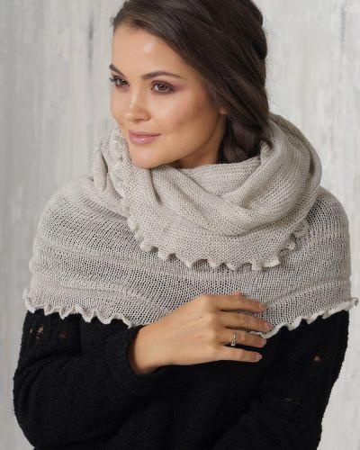 Бежевый шарф шерстяной Vay