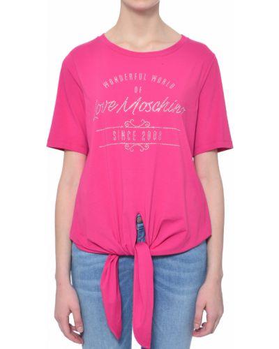 Розовая футболка Love Moschino