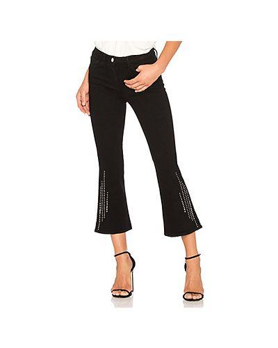 Расклешенные джинсы укороченные со стразами 3x1