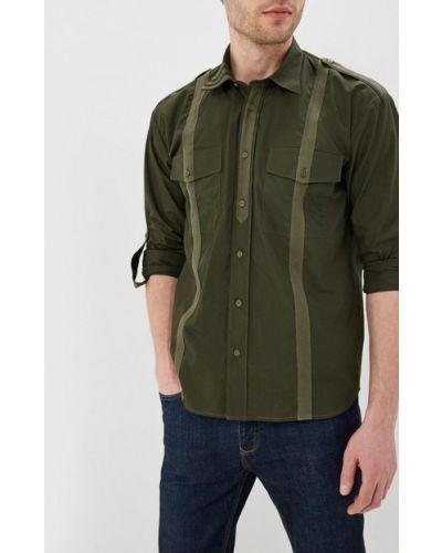 Рубашка с длинным рукавом зеленый хаки Elijah & Sims