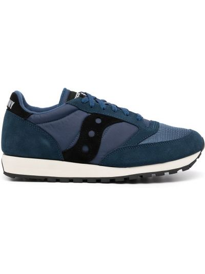 Синие кроссовки с логотипом Saucony