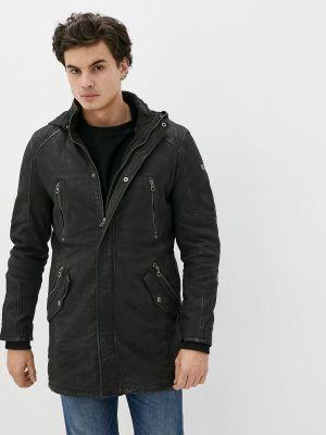 Кожаная куртка - черная Gipsy