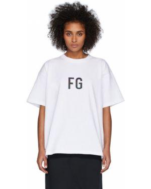 Koszula krótkie rękawy biała z łatami Fear Of God