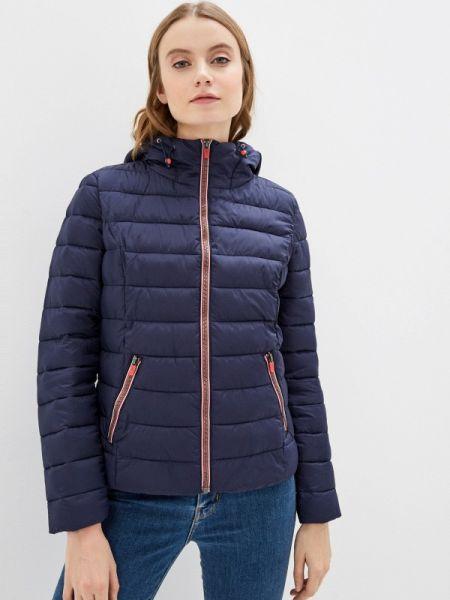 Синяя утепленная куртка S.oliver