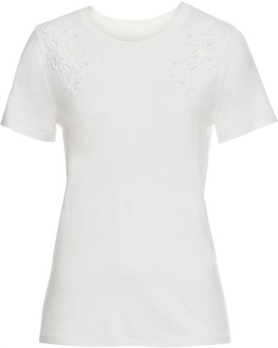 Блузка с коротким рукавом с вышивкой скромный Bonprix