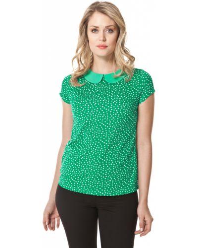Блузка с коротким рукавом зеленый из вискозы Lacywear
