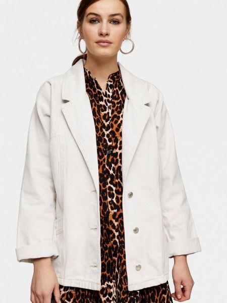 Джинсовая куртка весенняя белая Topshop